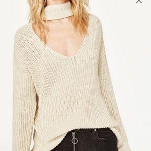 Zara Knit Sweater with Choker